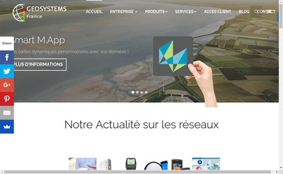 Site internet de Geosystems France