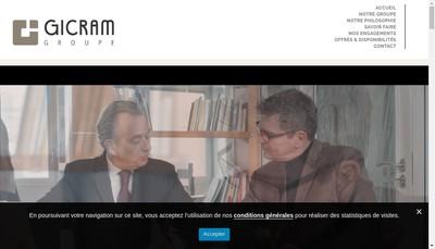 Site internet de Gicram Groupe