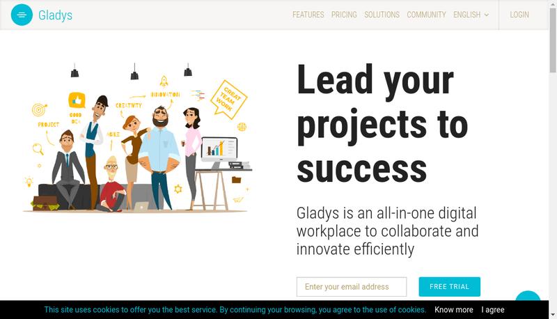 Capture d'écran du site de Gladys