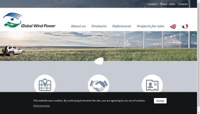 Site internet de Global Wind Power France