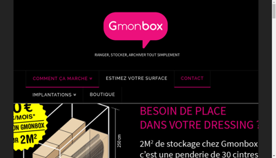 Capture d'écran du site de Gost Storage