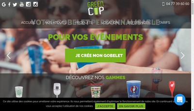 Site internet de Greencup