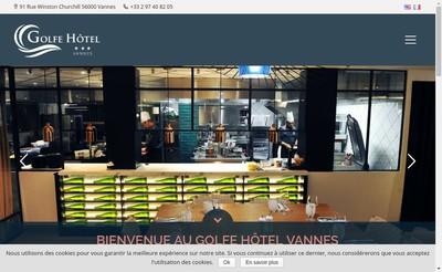 Site internet de Golfe Hotel