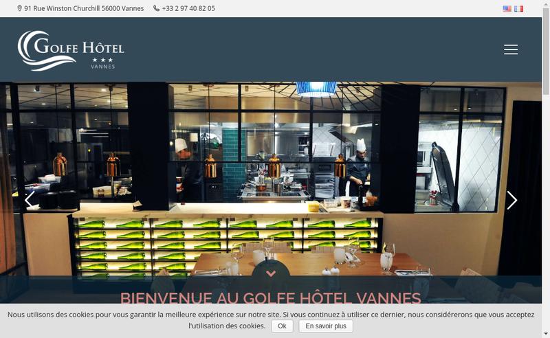 Capture d'écran du site de Golfe Hotel