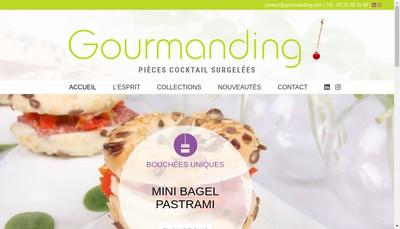 Site internet de Gourmanding