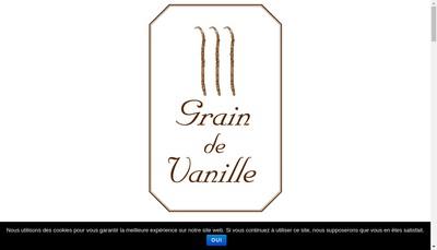 Site internet de SARL Grain de Vanille