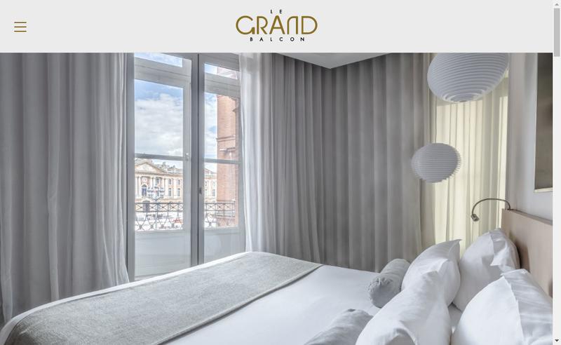 Capture d'écran du site de Hotel du Grand Balcon