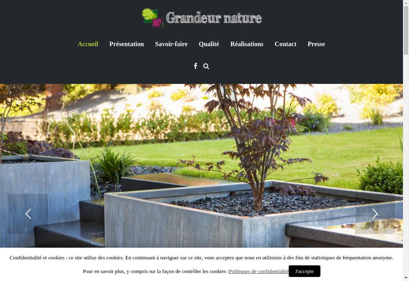 Capture d'écran du site de Grandeur Nature