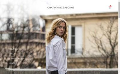 Site internet de Gratianne Bascans