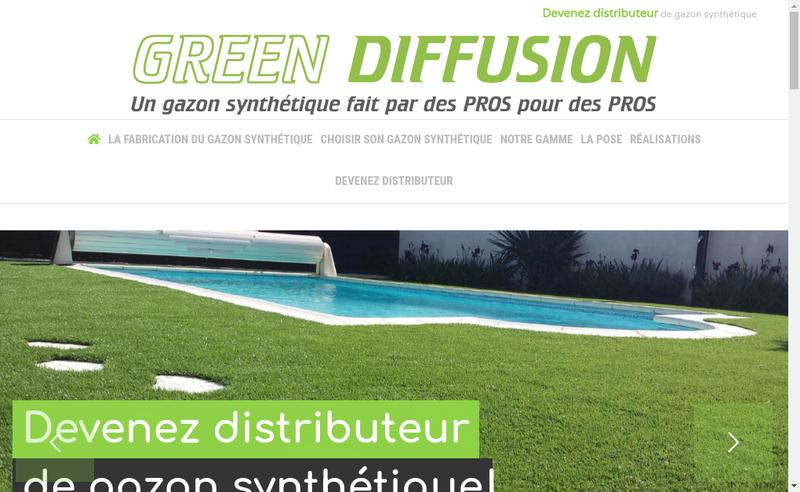 Capture d'écran du site de Gsh, Gazon Synthetique Herault, Gsh Di