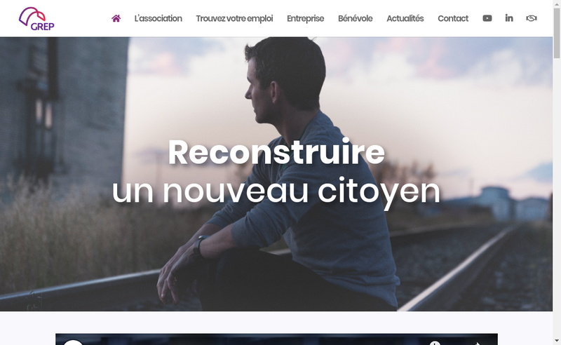 Capture d'écran du site de Grep Interim