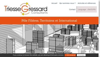 Site internet de Cabinet Gressard Consultants