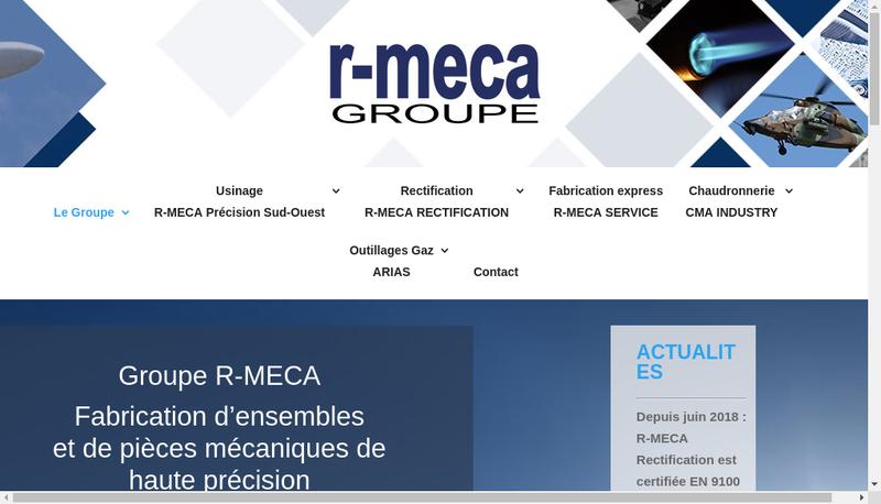 Capture d'écran du site de Cma Industry