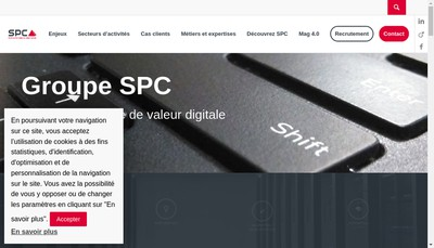 Site internet de Spc Formation