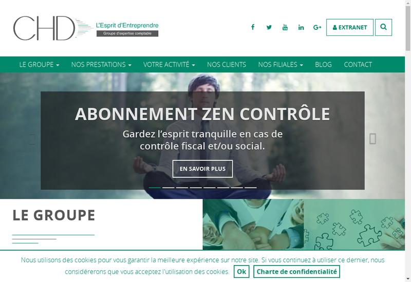 Capture d'écran du site de Chd Audit Hauts de France