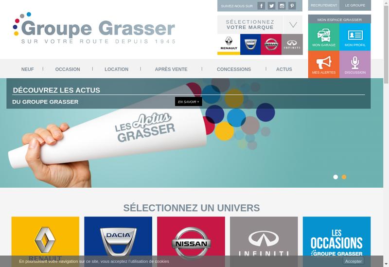 Capture d'écran du site de Garage Louis Grasser