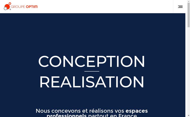 Capture d'écran du site de Optim Real - Arealis - Axiome - Teamel