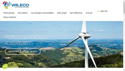 Site internet de Valeco Ingenierie