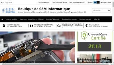 Site internet de Gsm Informatique