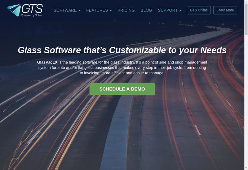 Capture d'écran du site de Gts Services
