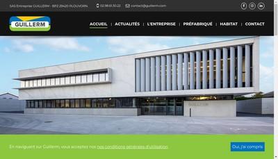 Site internet de Entreprise Guillerm