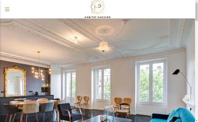 Site internet de Habitat Parisien