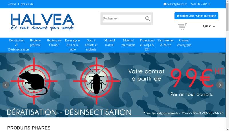 Capture d'écran du site de Halvea