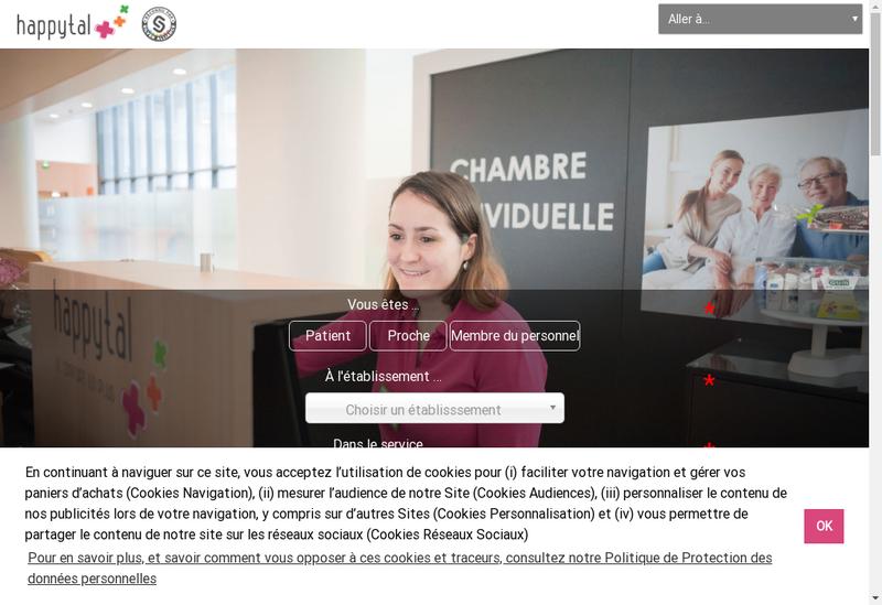 Capture d'écran du site de Happytal