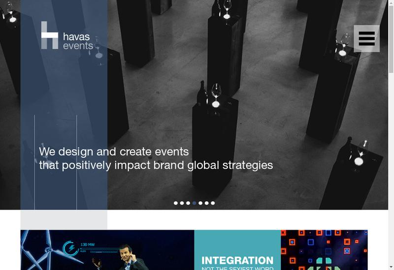 Capture d'écran du site de Havas Events