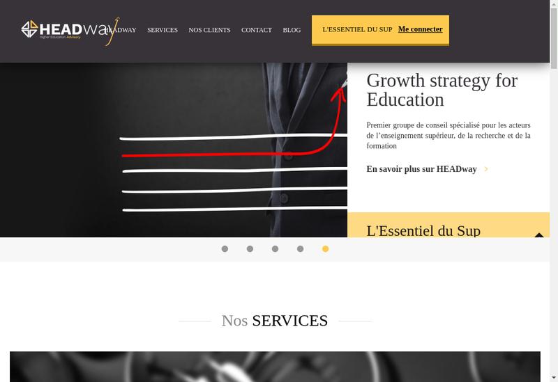 Capture d'écran du site de Higher Education Advisory