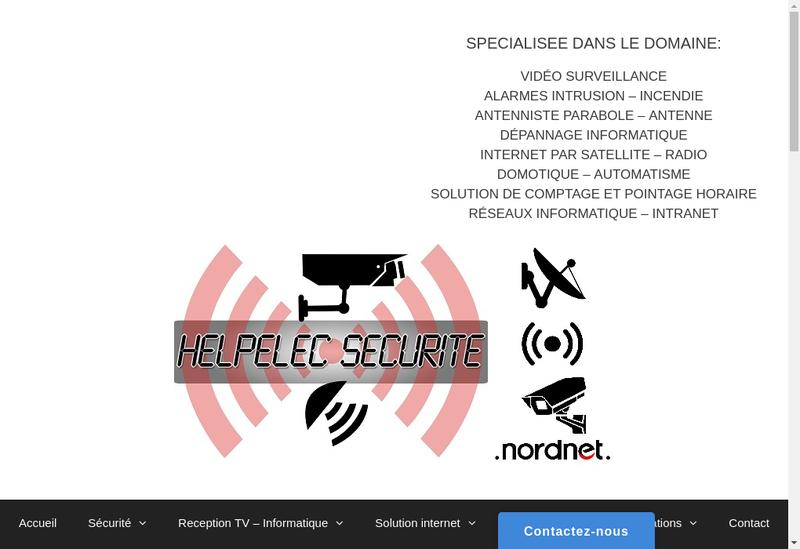 Capture d'écran du site de Helpelec Securite