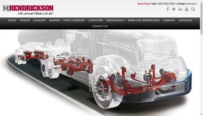 Capture d'écran du site de Hendrickson France SAS