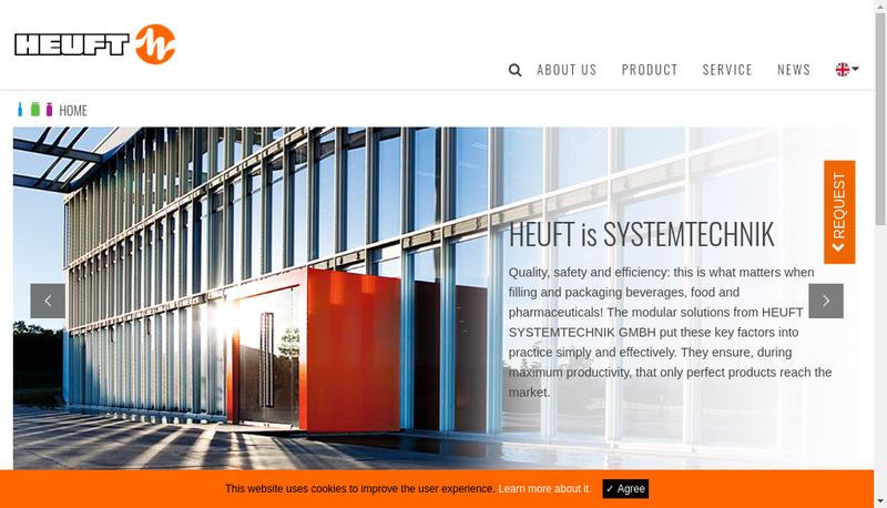 Capture d'écran du site de Heuft France