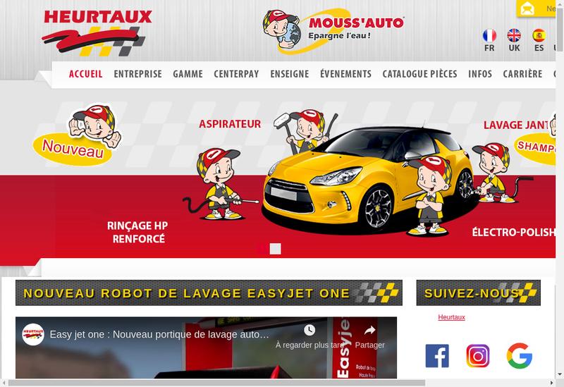 Capture d'écran du site de Heurtaux SAS