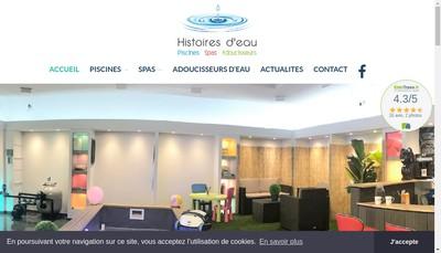 Site internet de Histoires d'Eau