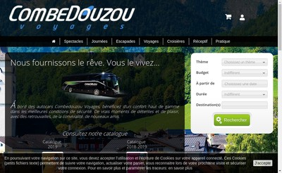 Site internet de Combedouzou Voyages