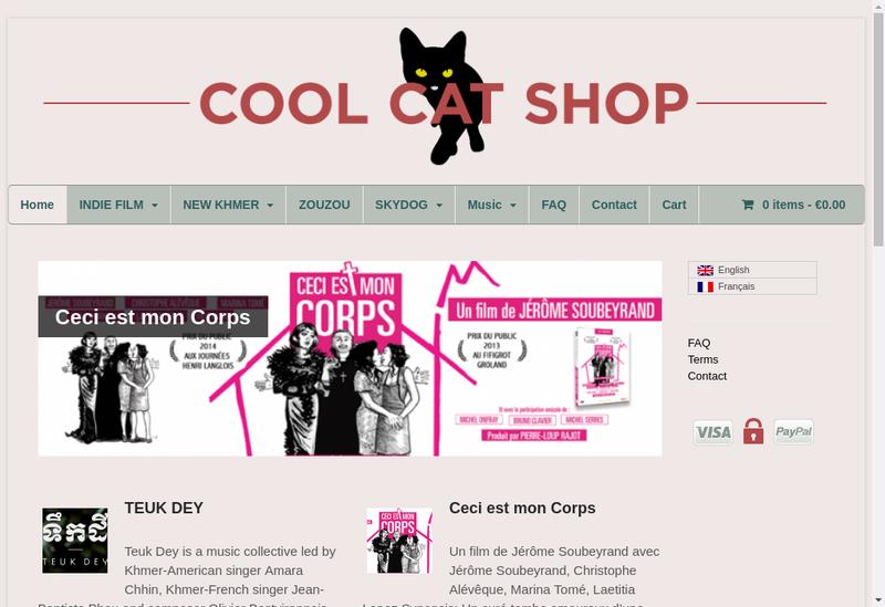 Capture d'écran du site de Cool Cat