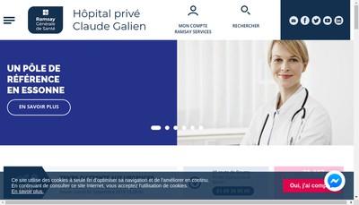 Site internet de Hopital Prive Claude Galien