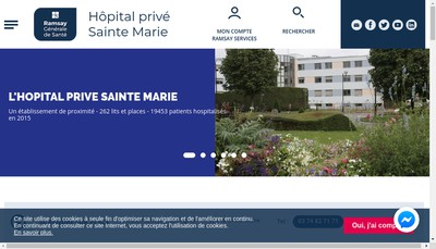 Site internet de Hopital Prive Sainte Marie Chalon