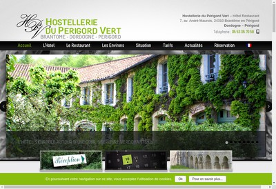 Site internet de Hostellerie du Perigord Vert