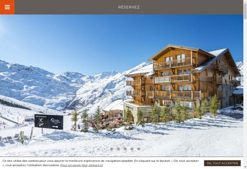 Capture d'écran du site de Chalet Hotel Kaya