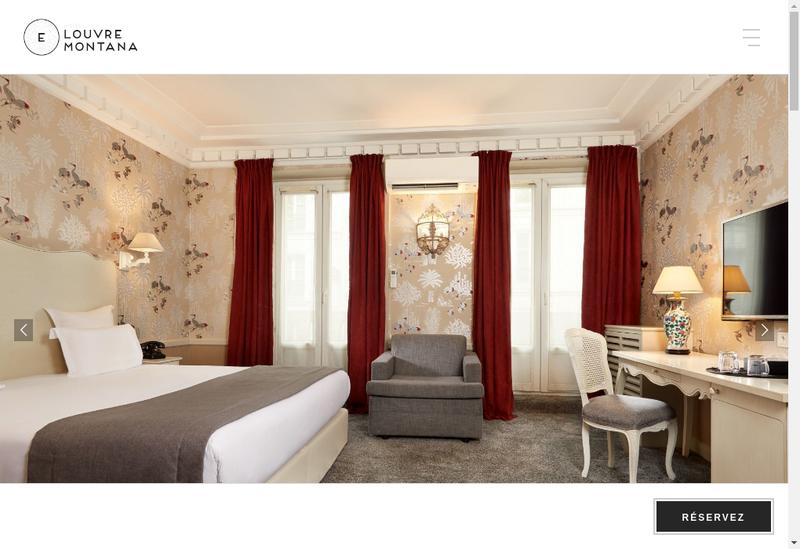 Capture d'écran du site de Confort Hotel Louvre Montana