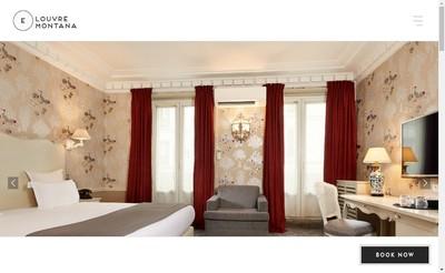 Site internet de Confort Hotel Louvre Montana
