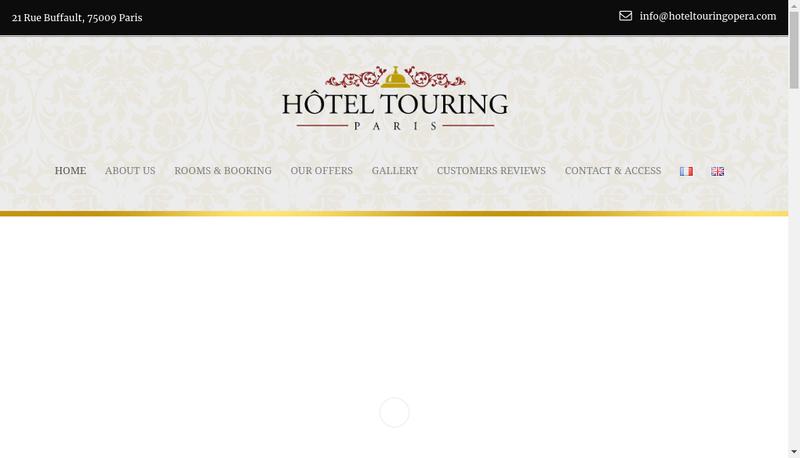 Capture d'écran du site de Touring Hotel