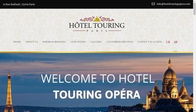 Site internet de Touring Hotel