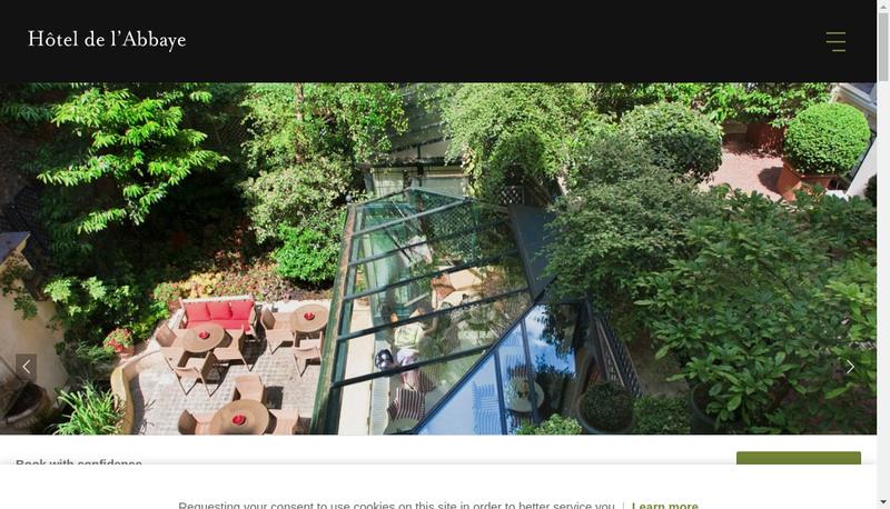 Capture d'écran du site de Abbaye Saint Germain