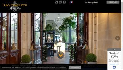 Site internet de Le Boutique Hotel Bordeaux