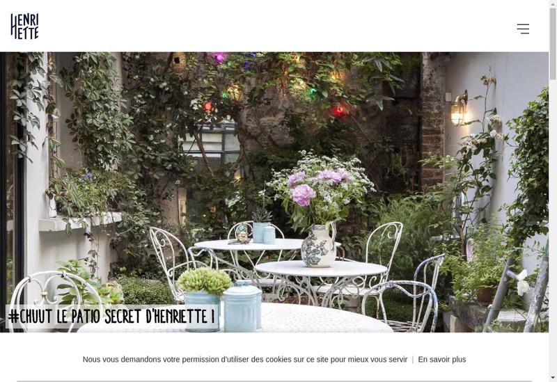 Capture d'écran du site de Hotel Henriette Rive Gauche