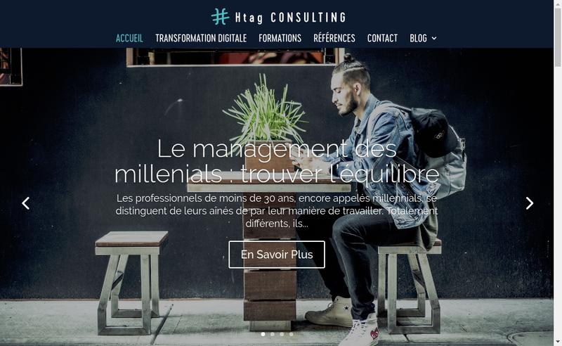 Capture d'écran du site de Htag Consulting
