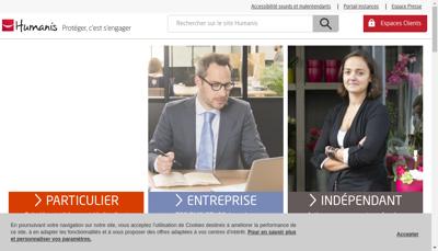 Capture d'écran du site de Humanis Partenaire